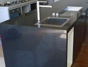 Benchtop with Waterfall End
