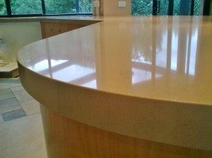 Benchtop with Curved Edges