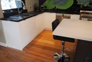 Black and White Benchtops